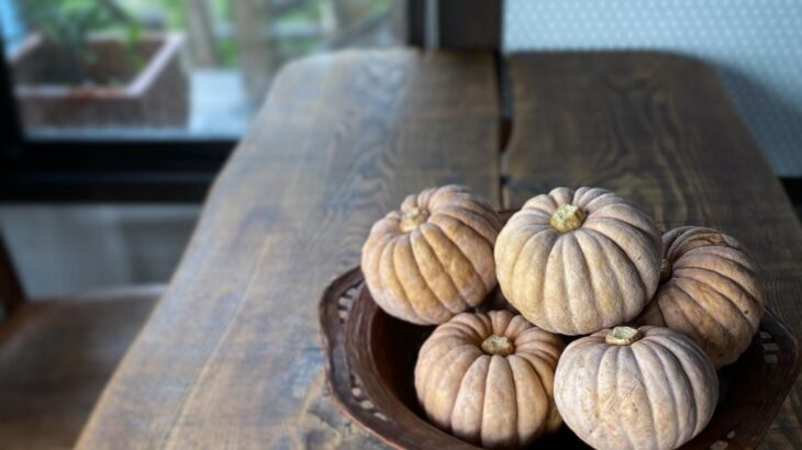半原かぼちゃの冷製豆乳スープ